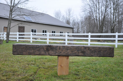 """Solid  Pine Hand Hewn Rustic Barn Beam Fireplace Mantel 8 by 10 by 72"""""""