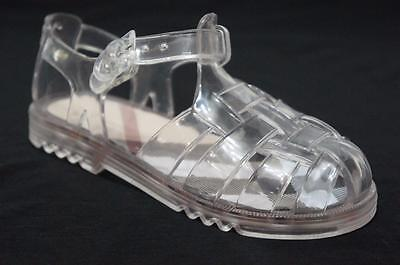 BURBERRY CLEAR JELLY BABY GIRLS SANDALS SHOES 34/2