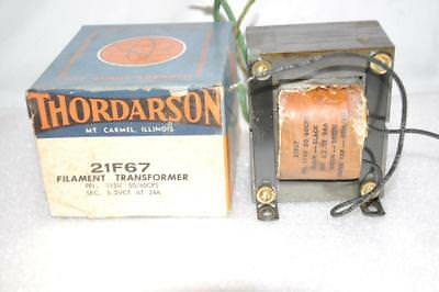 Thordarson 21f67 Filament Transformer 115v 5060cps Secondary10.4 5.2vct 24a