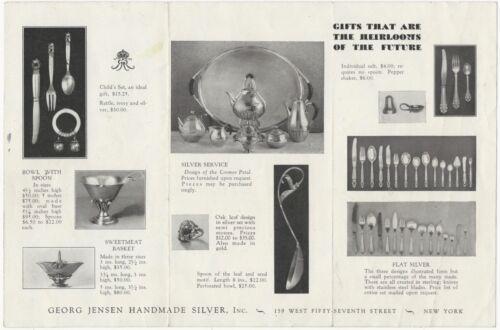 1920s-30s Georg Jensen New York Silver Hollowware and Flatware Brochure