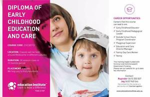 """1 YEAR""""DIPLOMA OF EARLY CHILDHOOD EDUCATION & CARE""""(GOVT FUNDED) Shepparton Shepparton City Preview"""