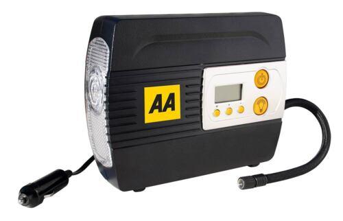AA Digital Air Compressor Tyre Inflator 12v with LED light for car van