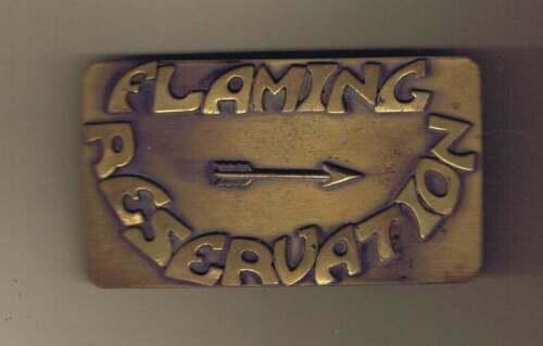 Flaming Arrow Reservation Arrow Right Belt Buckle Cs