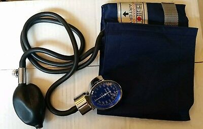 Vintage Antique Medical Blood Pressure optmax Sphygmomanometer With Bag