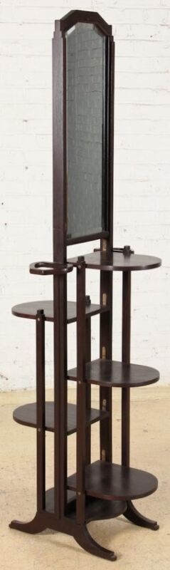 Antique Art Deco Fold Out Mirror Stand