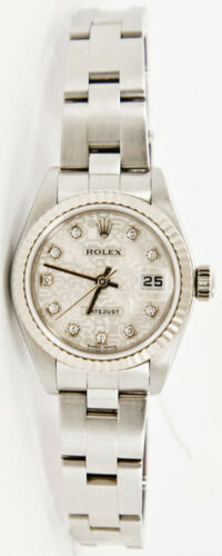 Rolex Datejust 79174 Oyster Band Factory Silver Anniversary Diamond Dial