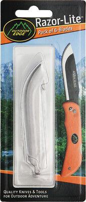 Outdoor Edge Razor Lite Rr6 Stainless Standard Edge Guthook 6 Replacement Blades
