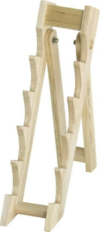 """Brown Wood 10-1/8"""" Countertop Knife Display Stand Holder - Holds 5 Knives MI162"""