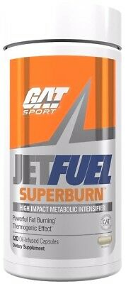 GAT Jet Fuel SUPERBURN Fat Burner Weight Loss Energy 120 Capsules Focus Thermo (Fuel Jet)