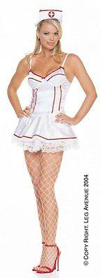SALE! LEG AVENUE NURSE UNDERWIRED DRESS COSTUME L UK 12 COSPLAY ANIME HOSPITAL