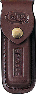 """Case 980 Trapper Leather Sheath Brown Leather Stamped Logo 5"""""""