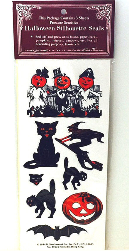 24 Vintage HALLOWEEN SEALS STICKERS Mint//Factory Sealed Package RARE Shackman