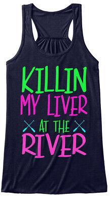 Womens Killin My Liver - At The River Bella Flowy Tank (Killin My Liver At The River Tank)