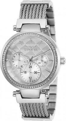 Invicta Women's Angel 28915 Quartz Silver Dial Crystal Stainless Woven Watch