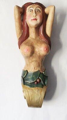 Deko Galionsfigur Fortuna ca. 52 x 16 x 16 cm Holz farbig behandelt