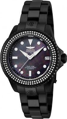 Invicta 23338 Grand Diver Automatic Diamond Mother of Pearl Date Womens Watch