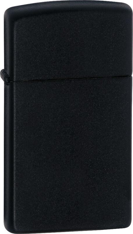 Zippo Lighter Slim Black Matte Windproof USA 13120