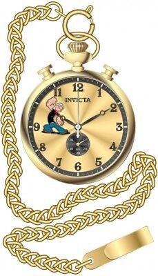New Invicta 24479 Popeye Limited Edition Chronograph Pocket Watch