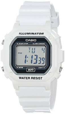 Casio Unisex Resin Case Grey Dial Digital Display 30m Classic Watch -