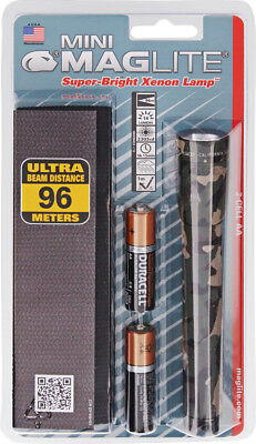 Aa Cell Holster - Mag-Lite Two AA Cell Holster Packs M2A02H Camouflage. AA Mini Maglite Flashlight