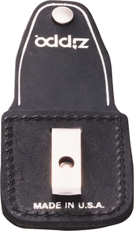 Zippo Lighter Black Leather Pouch made in USA 17060