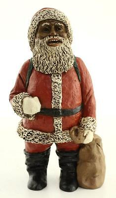 NEW All Gods Children Martha Holcombe 1316 ST NICHOLAS BLACK Santa Figurine