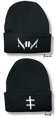 MARILYN MANSON BEANIE SKI HAT/CAP Embroidered Authentic Licensed NEW