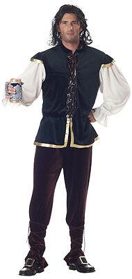 Adult Tavern Man Renaissance Medieval Beer Bartender Costume  (Tavern Man Costume)