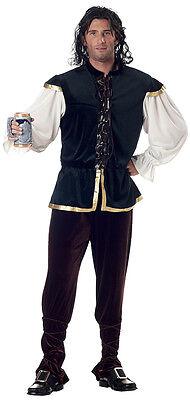 Oktoberfest Tavern Man Renaissance Medieval Adult Costume (Tavern Man Costume)
