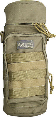 "Maxpedition MX323K 12""x5"" Khaki Bottle Holder- Holds A Tall Insulated Container"