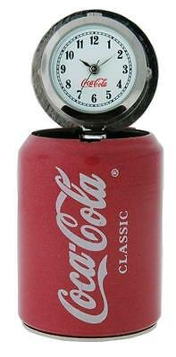 Coca-Cola Classic CCW188 Miniature Flip Top Can Key Chain Charm Analog Watch