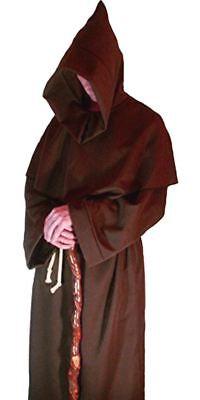 Mens Brown Viking Monks Robes Monk Friar Tuck Robe Halloween Fancy Dress Costume - Viking Halloween Costumes Men