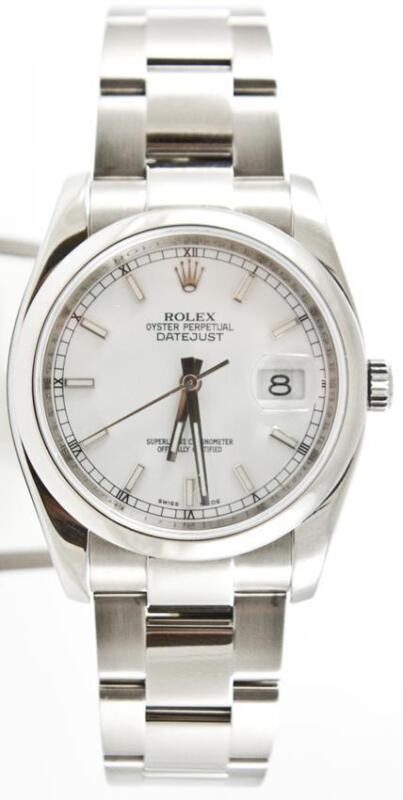 Rolex Datejust 116200 White Index Dial With Box & Booklets