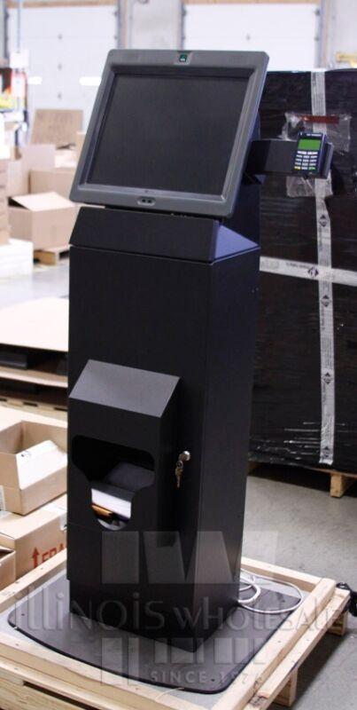 NCR Self Serv 60 POS Kiosk w/ Stand, Printer, Card Reader, 7409-1700-8801