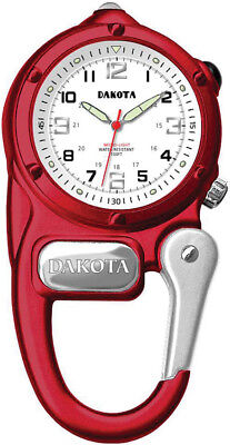 Dakota Mini Clip Microlight Watch Red Knife 38792 Red aluminum casing with integ ()