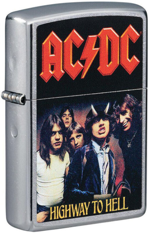 Zippo Lighter AC/DC Highway To Hell Design Street Chrome Made In The USA 16541