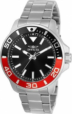 Invicta 21665 Men's Pro Diver Black Dial Stainless Steel Bracelet Watch