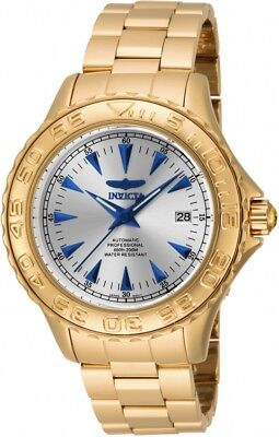 New Mens Invicta 17591 Pro Diver Ocean Ghost Automatic Gold Tone Bracelet Watch