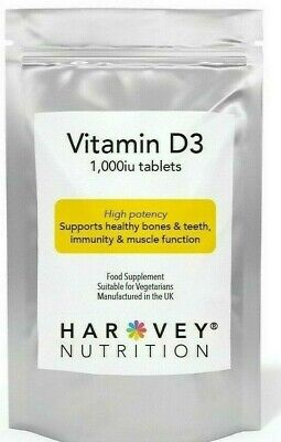 Vitamin D3 1000iu / 25ug Tablets 120 STRONG IMMUNE BONE SUPPORT
