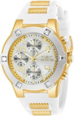 Invicta 24192 Blu 39MM Women's White and Gold Inserts Silicone -