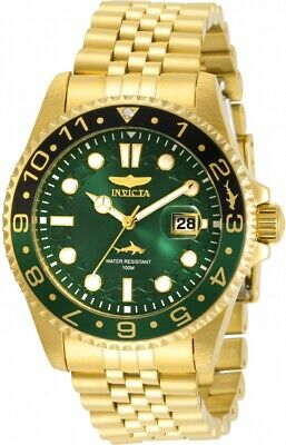 Invicta Pro Diver Quartz Green Dial Yellow Gold-tone Men's Watch 30623
