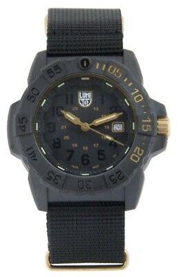 Luminox Navy Seal Limited Edition Quartz Watch, Black, 45 mm, XS.3501.GOLD.SET