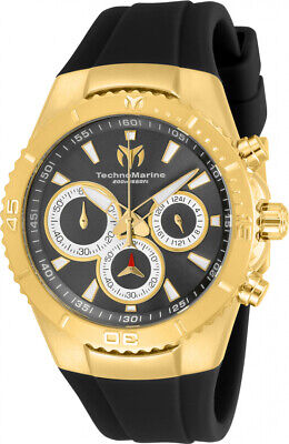 Technomarine TM-218036 Manta Women's 40mm Gold-Tone Charcoal Dial Watch