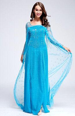 Frozen Vestito Carnevale Elsa Donna Adulto Dress up Woman Elsa Costumes (Elsa Dress Up Kostüm)