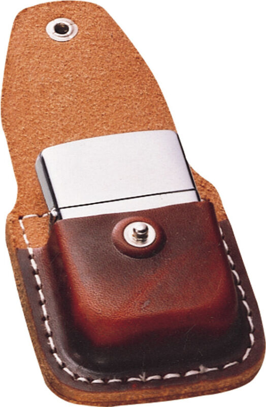 Zippo Lighter Pouch Brown Leather Sheath 17020