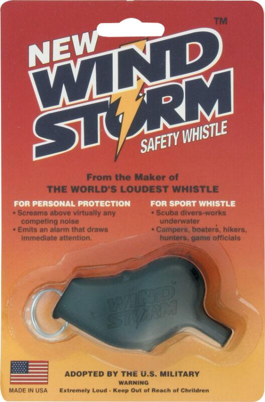 WINDSTORM Whistle BLACK loudest whistle waterproof