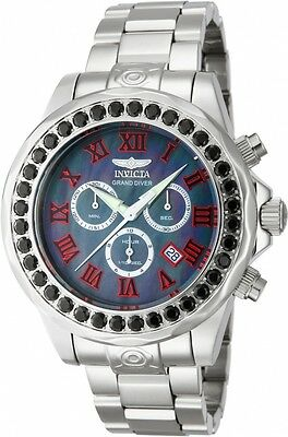 New Mens Invicta 14109 Grand Diver Limited Edition Black Spinel Bracelet Watch