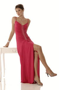 Lovely Fuschia Clarisse Evening Gown