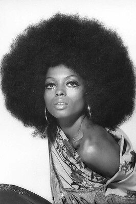 DIANA ROSS 24X36 POSTER AFRO HAIRSTYLE 1970'S PHOTO SHOOT STRIKING IMAGE - Hairstyles 1970s