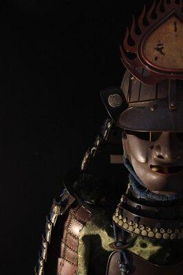 """YOKOHAGI 2 Iron Plates DOU GUSOKU YOROI (armor) : MUNEHISA : EDO : 16.5×22×53.9"""""""